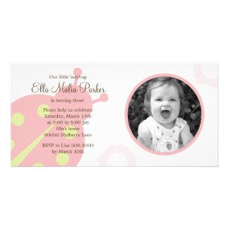 Ladybug Photo Birthday Invitation Photo Card