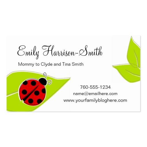 Ladybug Play Date Cards, Horizontal Business Cards