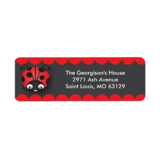 Ladybug Polka Dot Birthday Party Address Labels