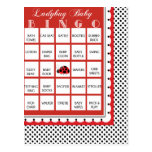 Ladybug Polkadots Baby Shower Bingo Card 14