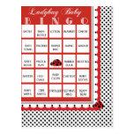 Ladybug Polkadots Baby Shower Bingo Card 3