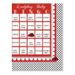 Ladybug Polkadots Baby Shower Bingo Card 4