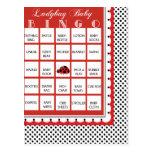 Ladybug Polkadots Baby Shower Bingo Card 5