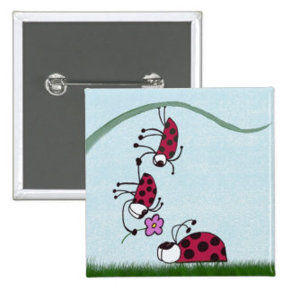 Ladybug professing his love for his sweetheart. pinback button