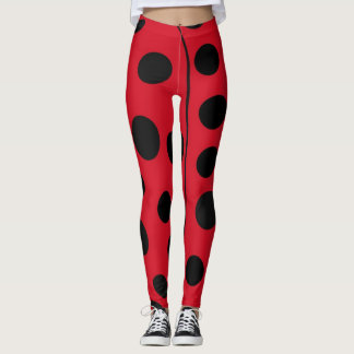 Ladybug Red and Black Spots Leggings