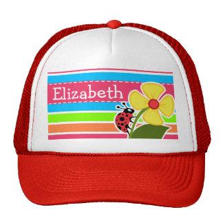Ladybug; Retro Neon Rainbow Mesh Hats