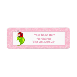 Ladybug Return Address Label