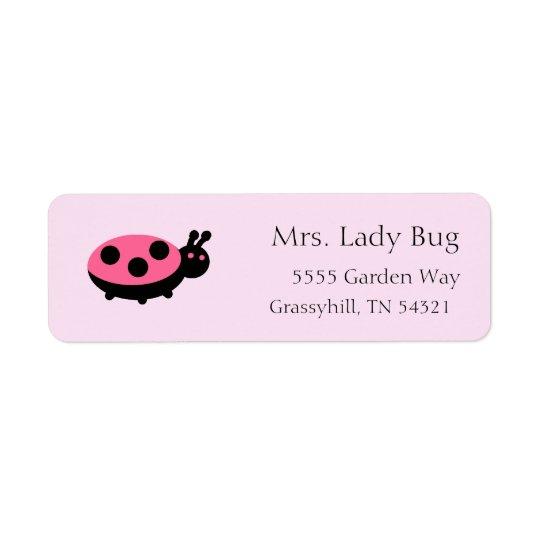 Ladybug Return Address Labels