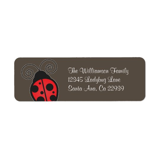 Ladybug Return Address Labels