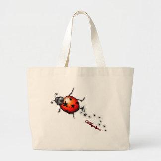 Ladybug Rockstar Canvas Bag