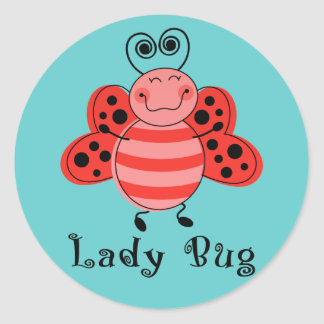 Ladybug Round Sticker