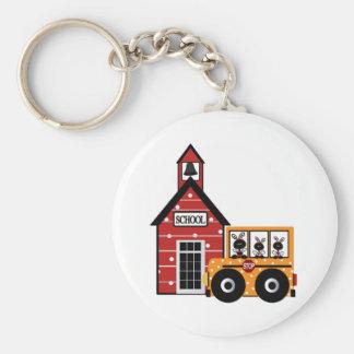 Ladybug School and School Bus Tshirts and Gifts Key Ring