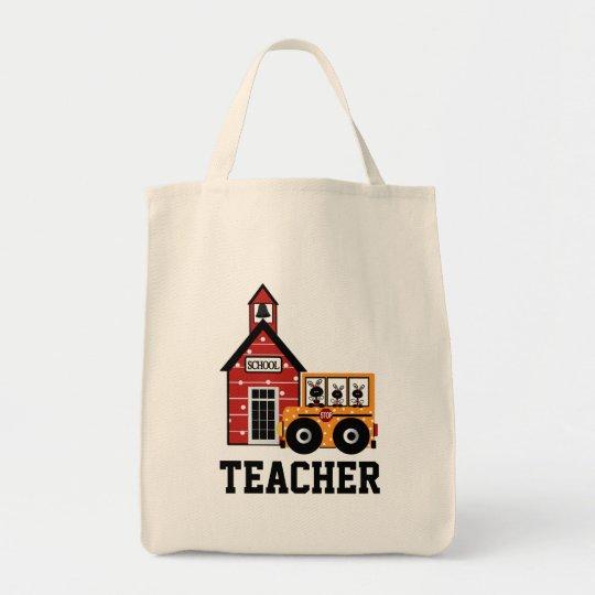 Ladybug School Bug & School Teacher's Tote Bag