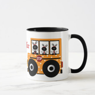Ladybug School Bus Teacher Mug
