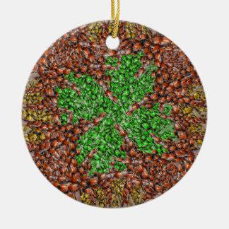 Ladybug Shamrock Ornament