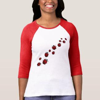 Ladybug Shirt Lady's Baseball Jersey Ladybug Shirt