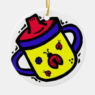 ladybug sippy cup christmas ornament