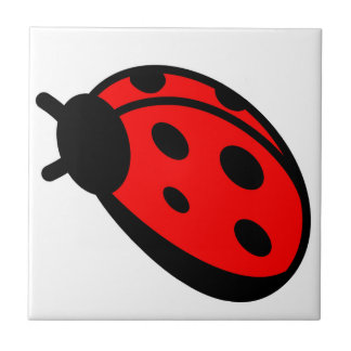 "Ladybug Small (4.25"" x 4.25"") Ceramic Photo Tile"