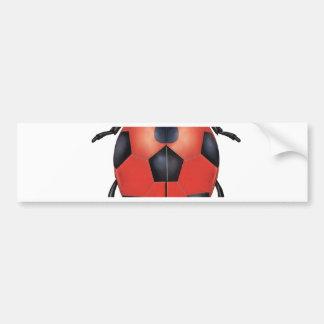 Ladybug soccer bumper sticker