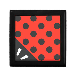 Ladybug Square Black and Red Gift Box