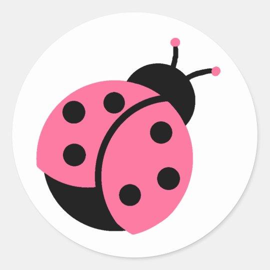 Ladybug Stickers/Envelope Seals Round Sticker