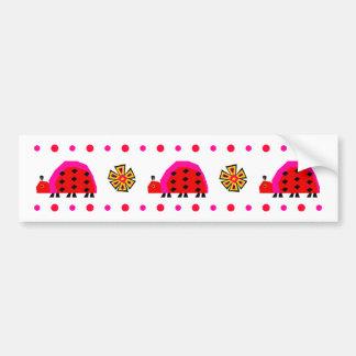 Ladybug Stripe Bumper Sticker