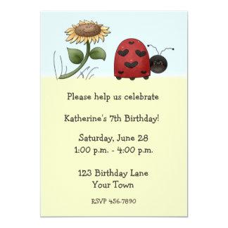 Ladybug, Sunflower Invitation
