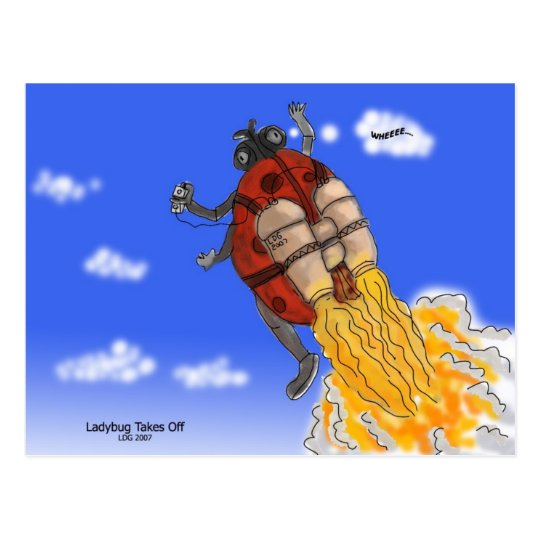 Ladybug Takes off Postcard