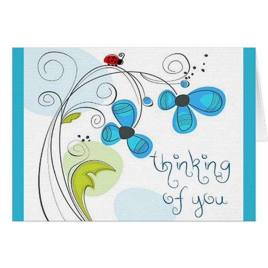 "ladybug ""thinking of you"" note card"