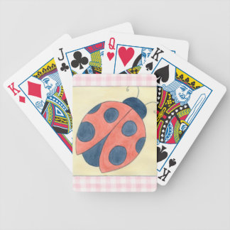 Ladybug Trio Landing on Flowers Bicycle Playing Cards