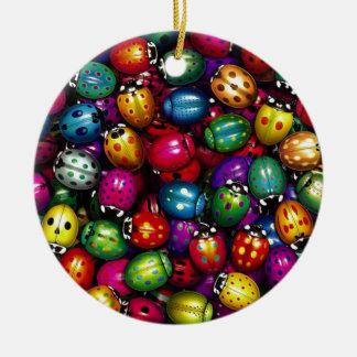 ladybug varicolored christmas ornament