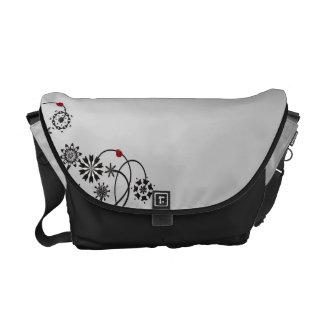 Ladybug Vine Messenger Bag