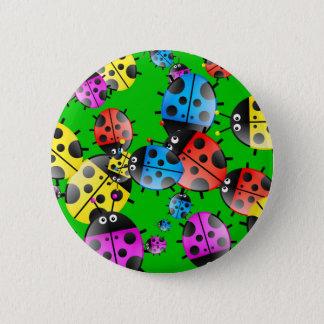 Ladybug Wallpaper 6 Cm Round Badge