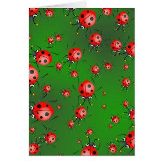 Ladybug Wallpaper Greeting Card