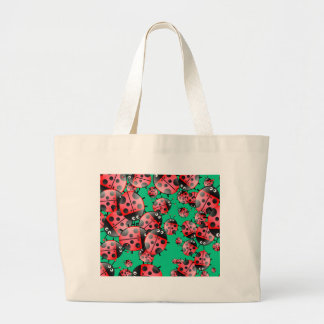 Ladybug Wallpaper Large Tote Bag