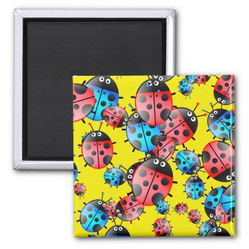 Ladybug Wallpaper Refrigerator Magnets