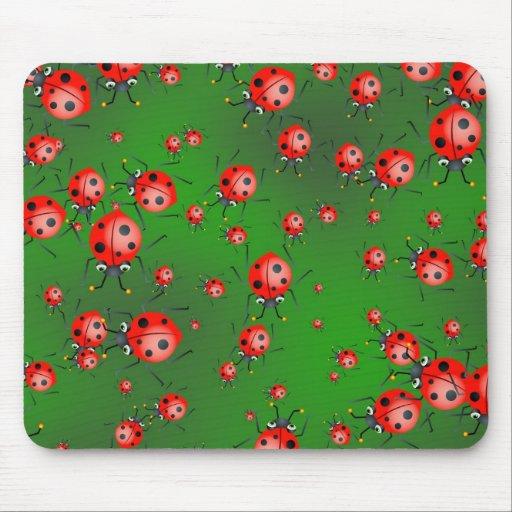 Ladybug Wallpaper Mouse Mats