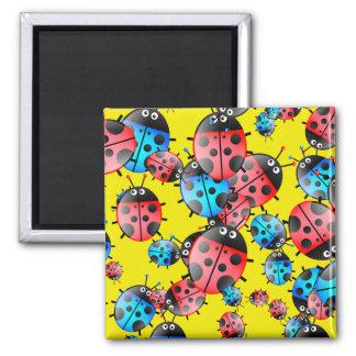 Ladybug Wallpaper Square Magnet