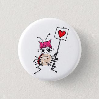 Ladybug wearing Pussy Hat pin