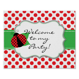 Ladybug Welcome Door Sign