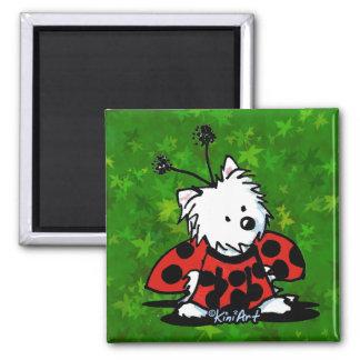 Ladybug Westie Magnet