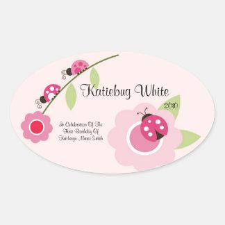 Ladybug Wine Label