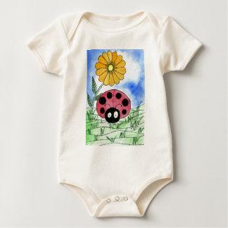 Ladybug with Flower Baby Bodysuit