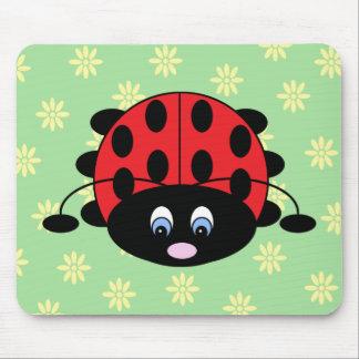 Ladybug with Flowers Mousepad