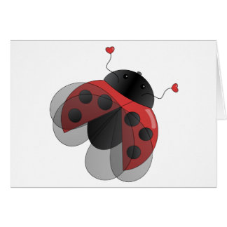 Ladybug with Opern Wings Greeting Card