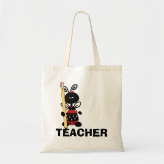 Ladybug with Pencil Teacher's Tote Bag