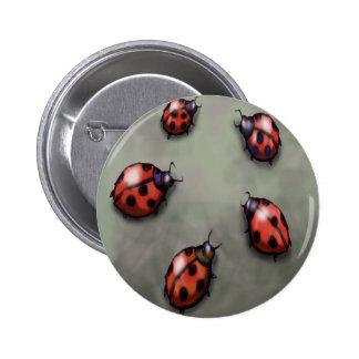 Ladybugs 6 Cm Round Badge