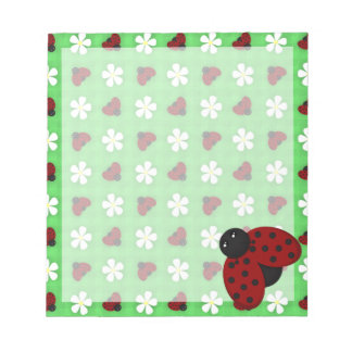 Ladybugs and Daisies Notepad