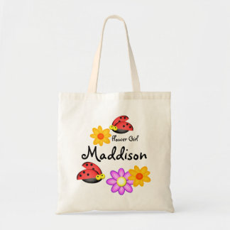 Ladybugs and Flower Girls Budget Tote Bag