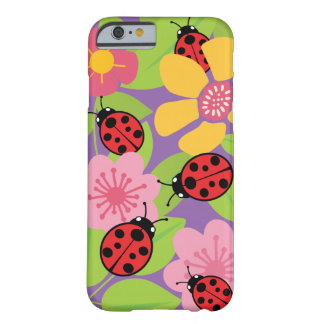Ladybugs and Flowers Barely There iPhone 6 Case